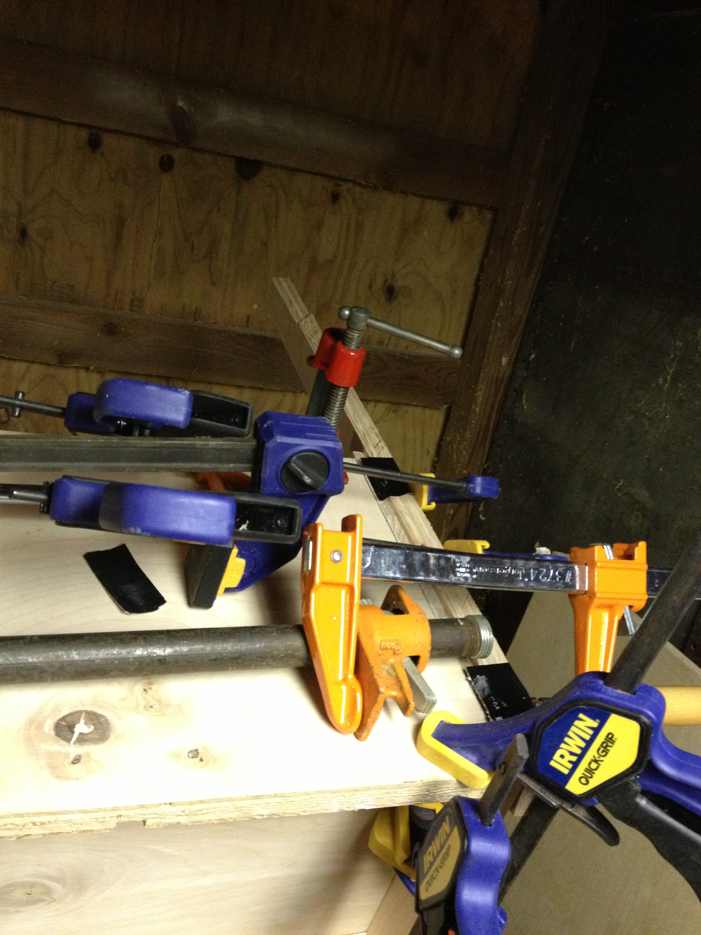 You can never have to many clamps